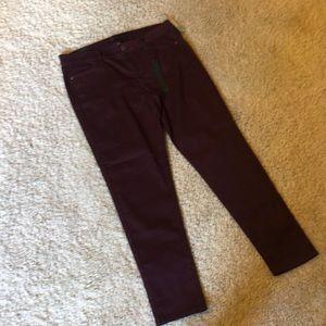 Tinsel burgundy skinny pant